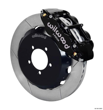 Wilwood 6R Slotted Front, Black (Subaru BRZ / Scion FR-S 13-20) 140-12870