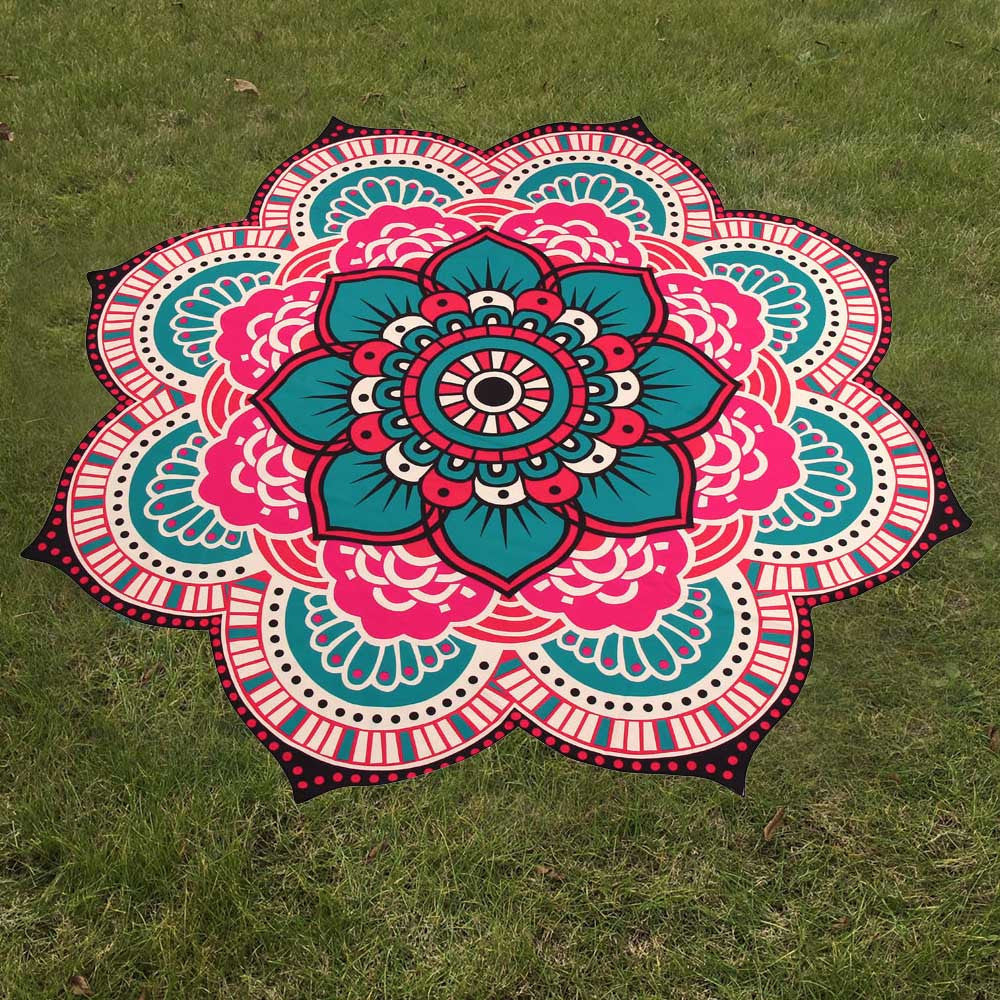 mandala blanket cover lotus tassel up indian round beach mats mat bohemian chic sunblock bikini yoga hot tapestry printed towel women