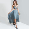 Lace Bodice Cut Out Bohemian Dress