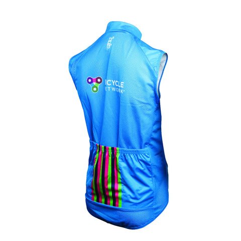 Bicycle Network Gilet - Cyan