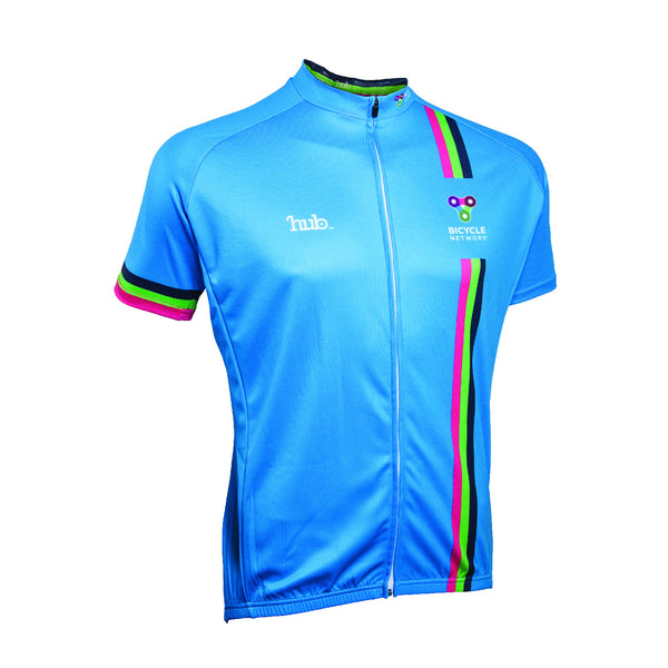 Bicycle Network Jersey Club Fit - Cyan