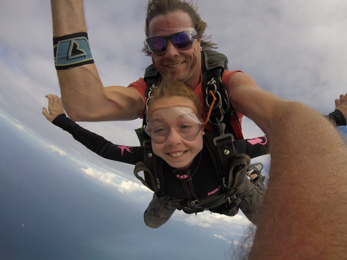 10 Year Old Does 10k Jump - SuperGirl Ryan's First Skydive