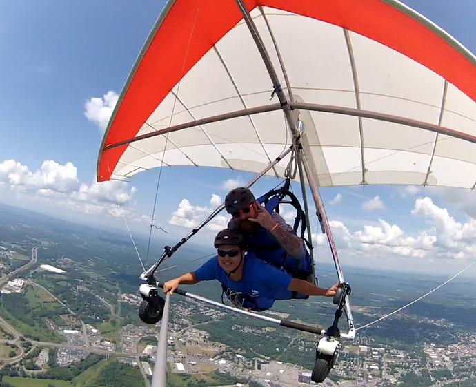 Hang Gliding - the thrill, the rush and did I mention the view