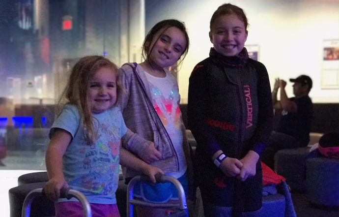 Indoor Skydiving - Tunnel Kids, a family that flies together stays together