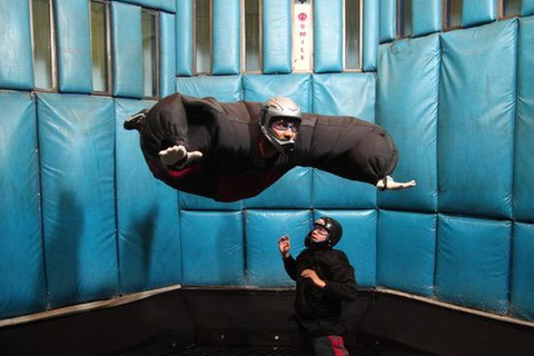 big flappy indoor skydiving suit