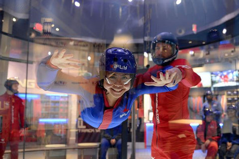 indoor skydiving student