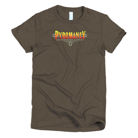 Pyromancy Women's Logo T-Shirt [Brown]