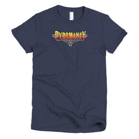 Pyromancy Women's Logo T-Shirt [Navy]