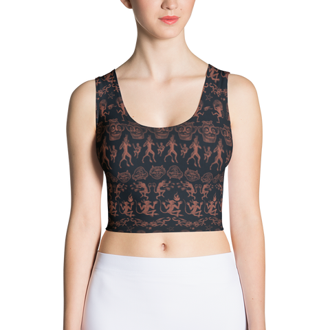 El Diablo All-Over Print Crop Top