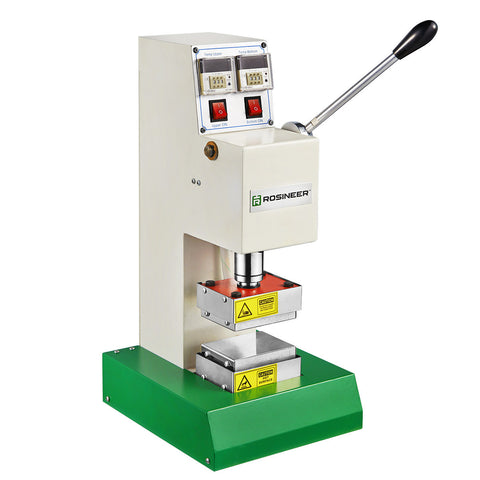 Rosineer RNR-MV2 Manual Rosin Press Dab Machine - Food Grade Stainless Steel Plates