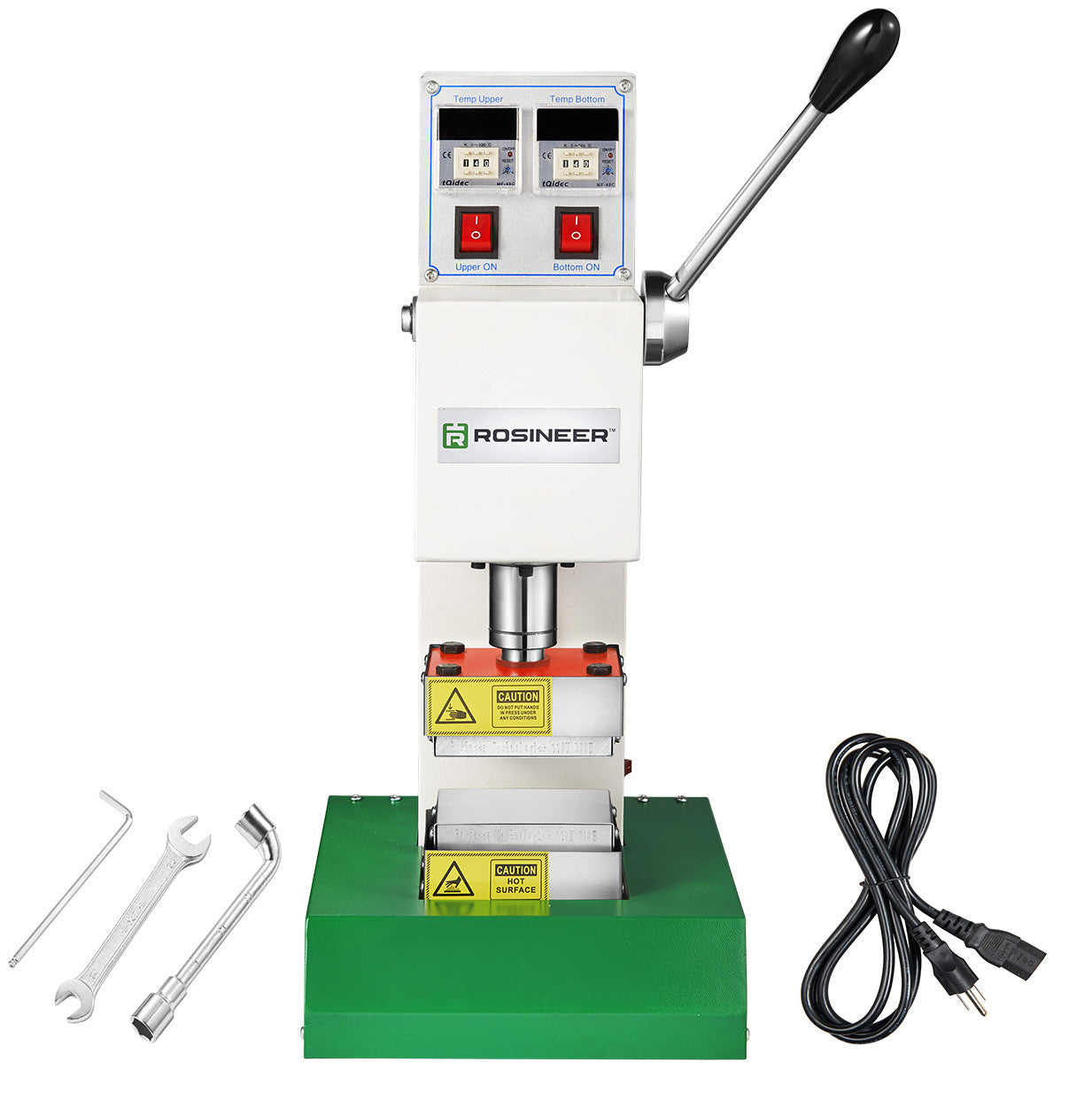 Rosineer RNR-MV2 Manual Rosin Press Machine - Food Grade Stainless Steel Plates