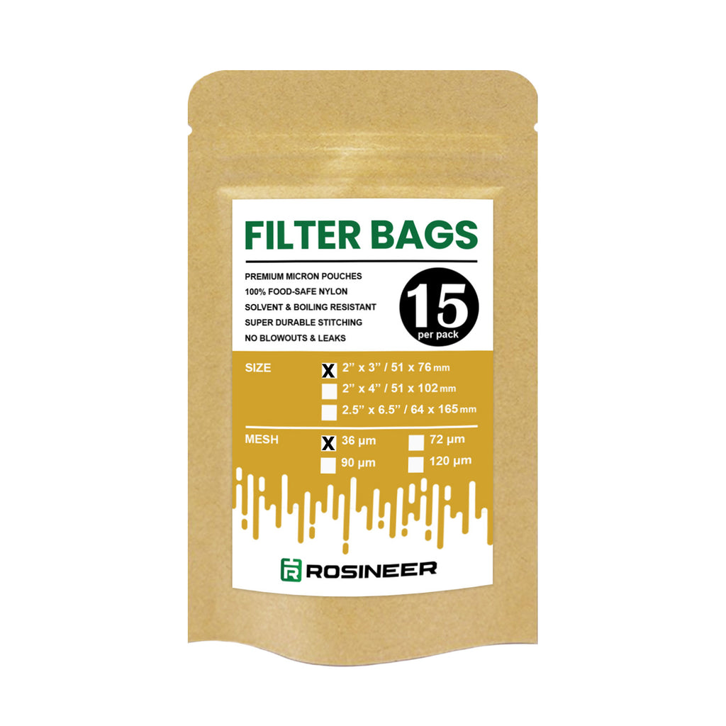 "Rosineer Premium Filter Bags, 2"" x 3"", Various Micron Mesh Sizes Available"