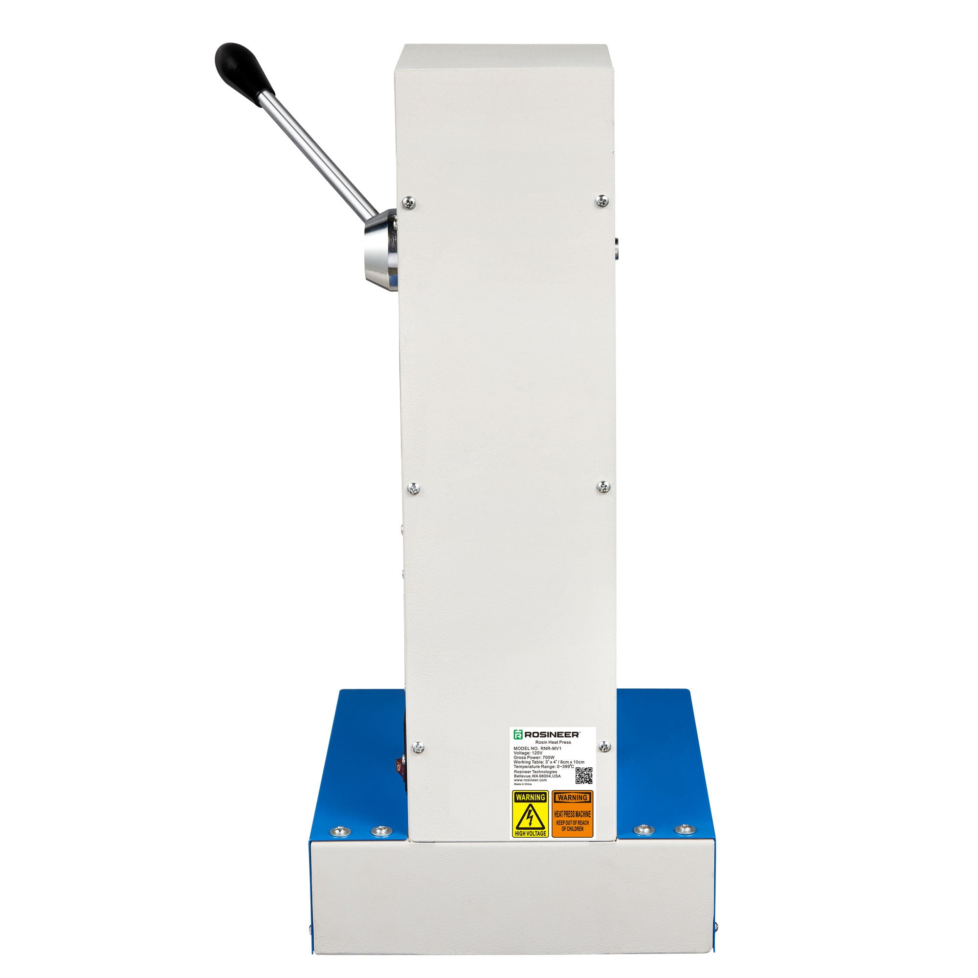 Rosineer RNR-MV1 Manual Rosin Press - Backside