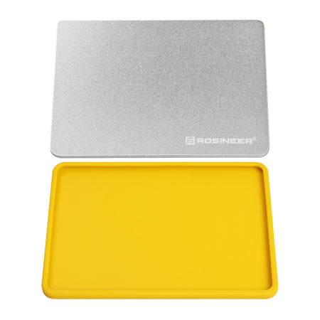 "Rosineer Rosineer Cooling Aluminum Plate, 6"" x 8"",  and Silicone Plate Cover for Working with Rosin"