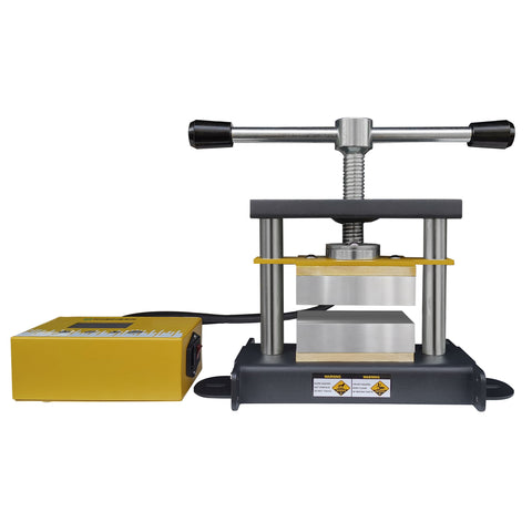 Rosineer GRIP Manual Rosin Press Affixed to a Working Bench