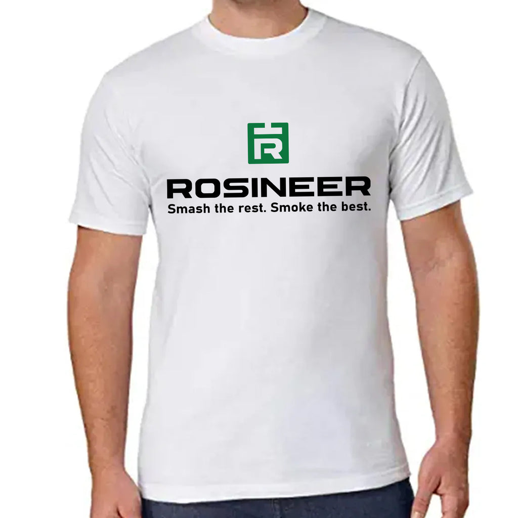 Rosineer Unisex White Cotton T-Shirt