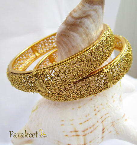Antique Gold Plated Bangles