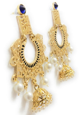 Parakeet House Indo Western Classic Earring with Gold Plating