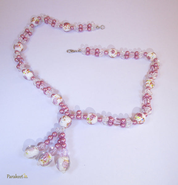 Pink Costume Necklace
