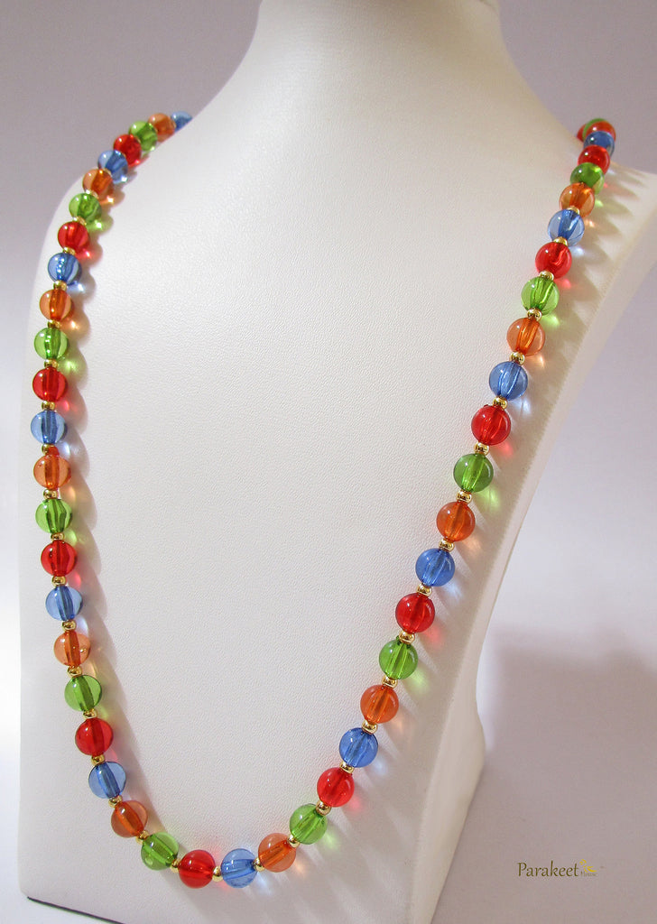 Colourful Glass Beads Necklace
