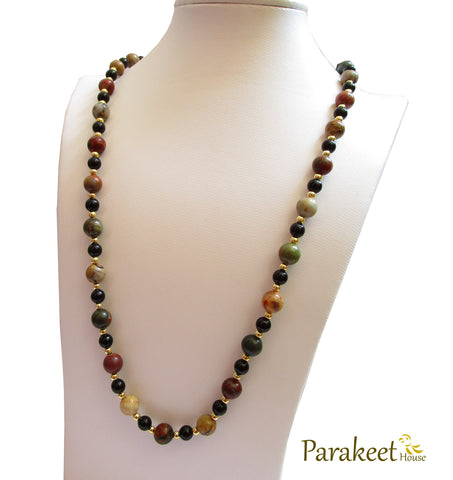 Natural Picasso Jasper Gemstone Necklace