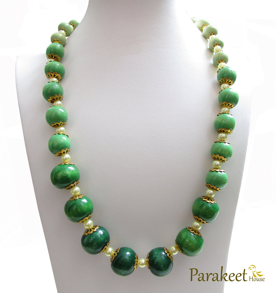 services green sea retail speckled shine ceramic jewelry necklace