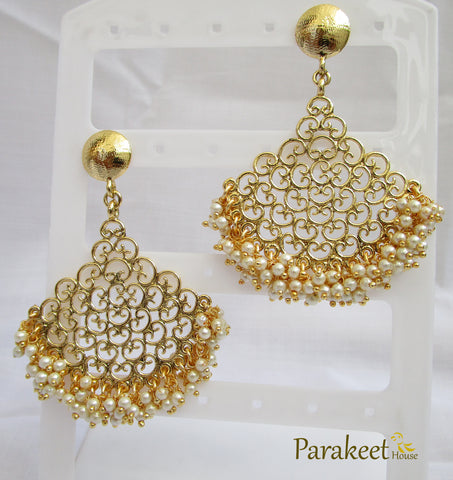 Gold Plated Indo Western Long Earring