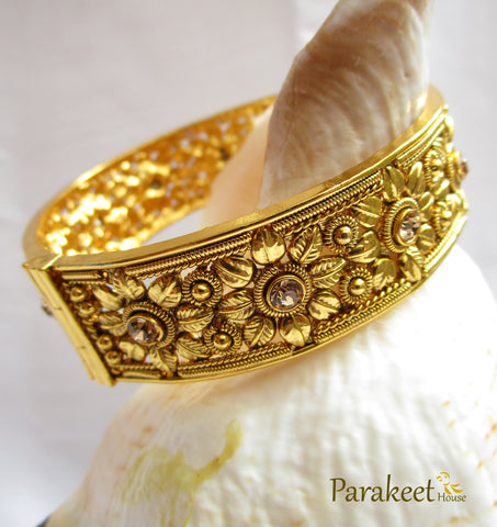Gold Plated Antique Openable Bangles