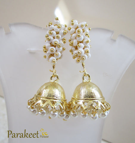 Indo Western Jhumki with Gold Plating