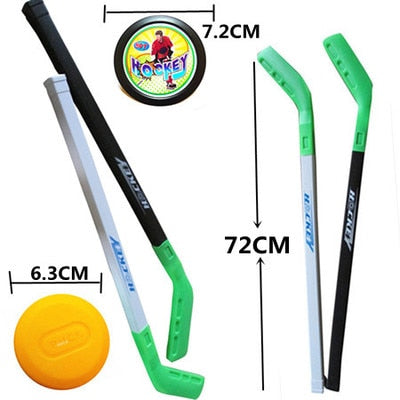 Hockey Sticks and Puck (2 of each)