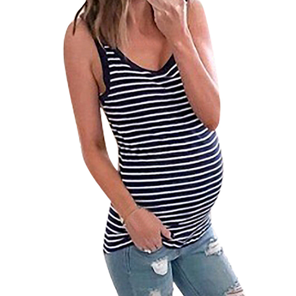 Striped Maternity Tank Top