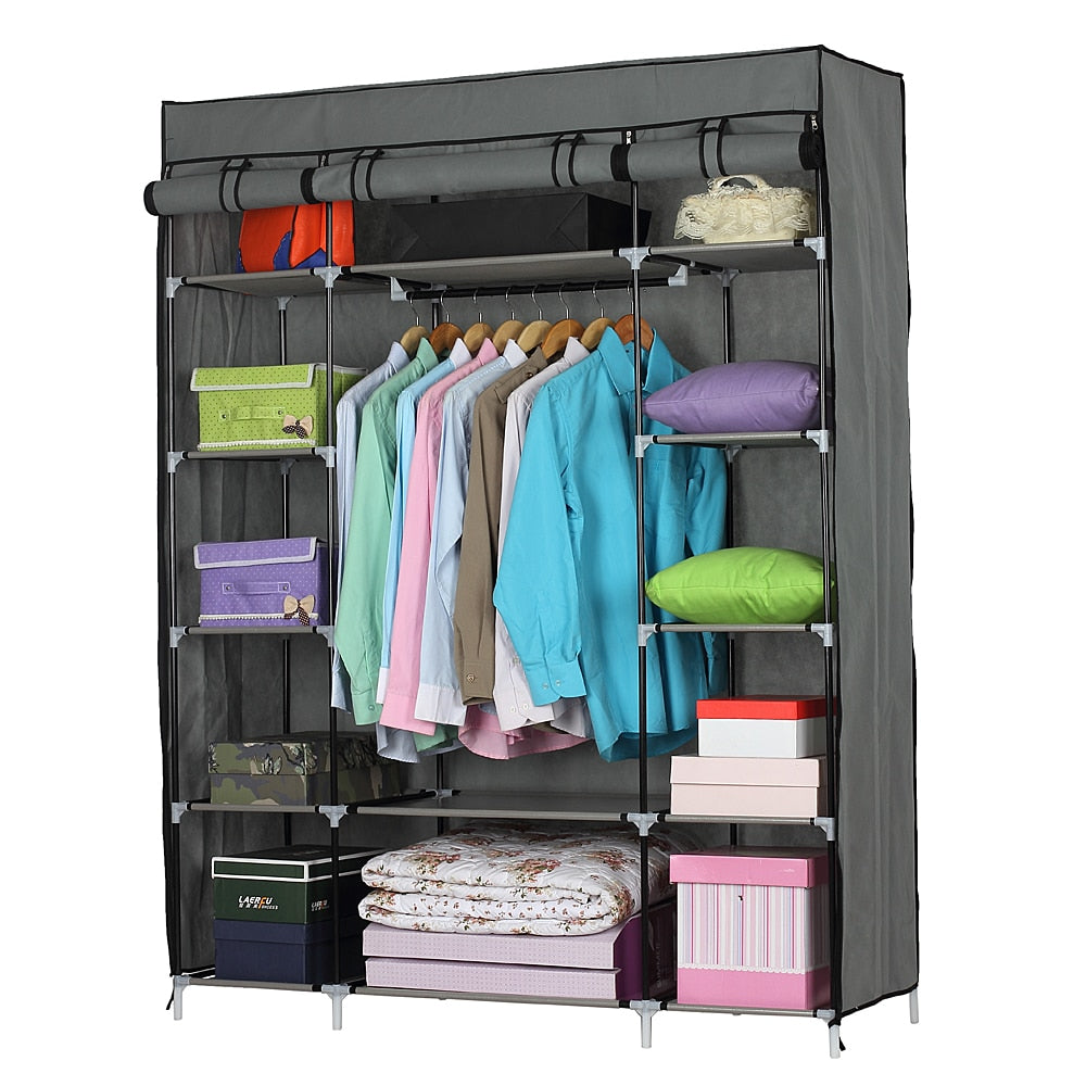 Portable Wardrober Closet Storage Organizer 53