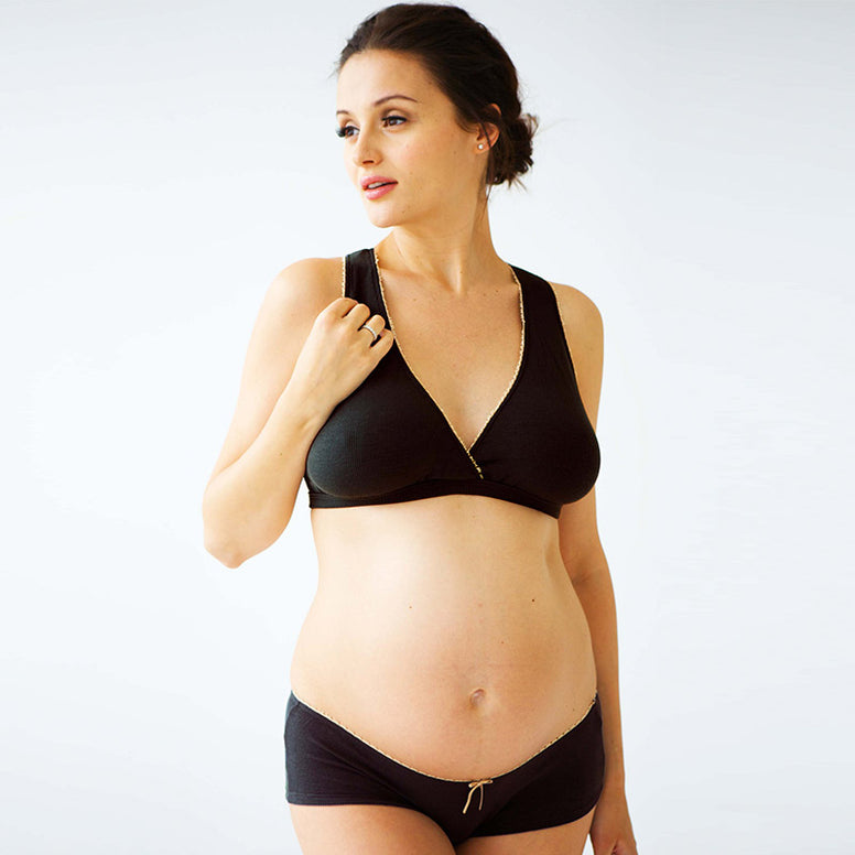 Belabumbum Bamboo Sleep Bra - Black