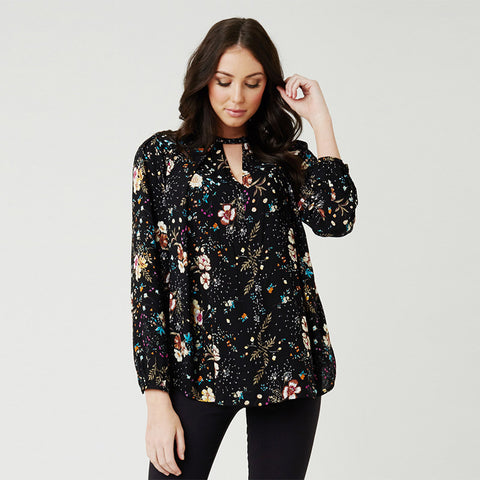 Ripe Dandelion High Neck Blouse