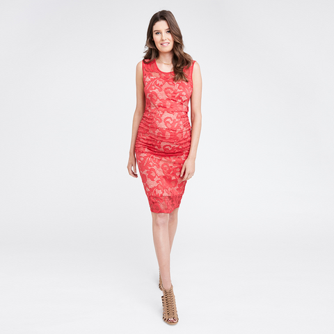 Ripe Eden Lace Dress - Red