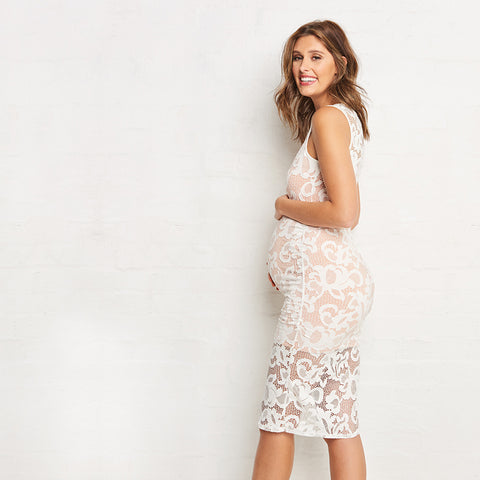 7405ca44560 Ripe Eden Lace Dress - White ...