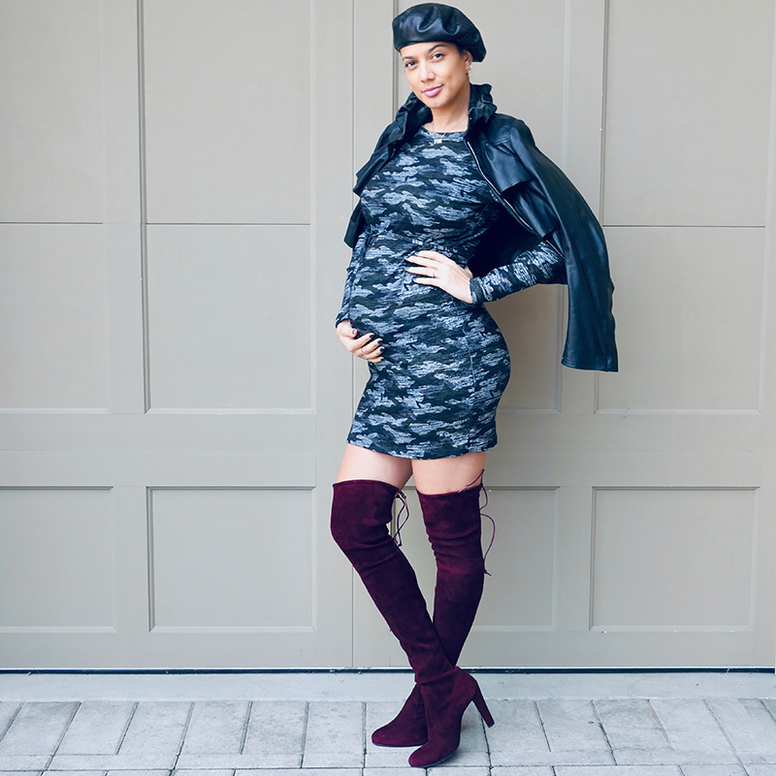 Supermom Knit Camo Dress