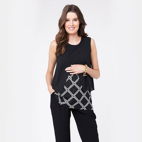 Ripe Grid Crossover Top