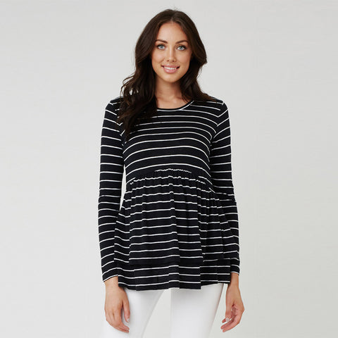 Ripe Layered Tier Top - Black/White