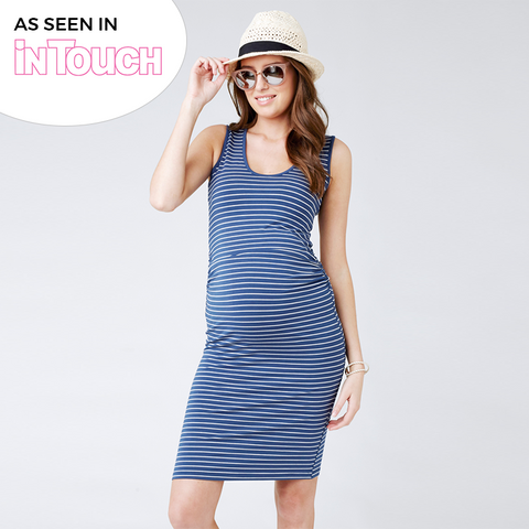 Ripe Mia Stripe Dress - Navy