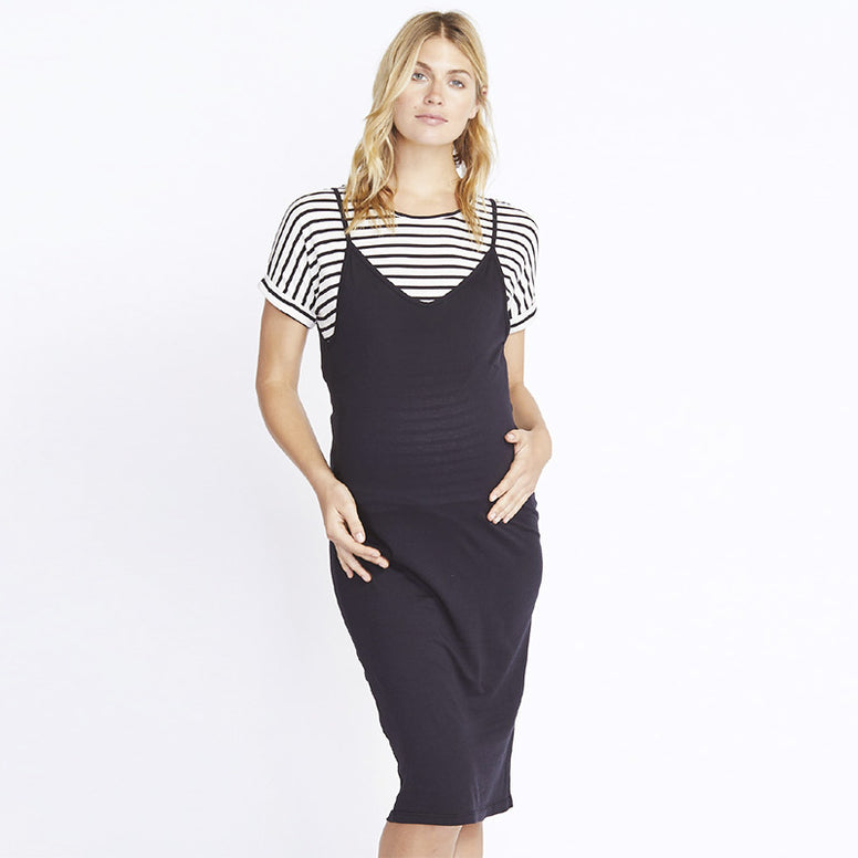 Monrow Midi Dress with Striped Tee
