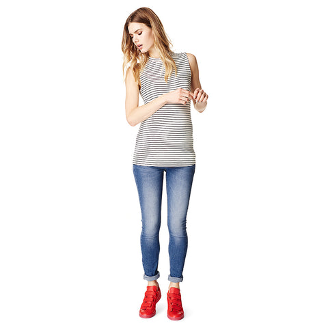 Supermom Skinny Jeans Mid Blue - Sample