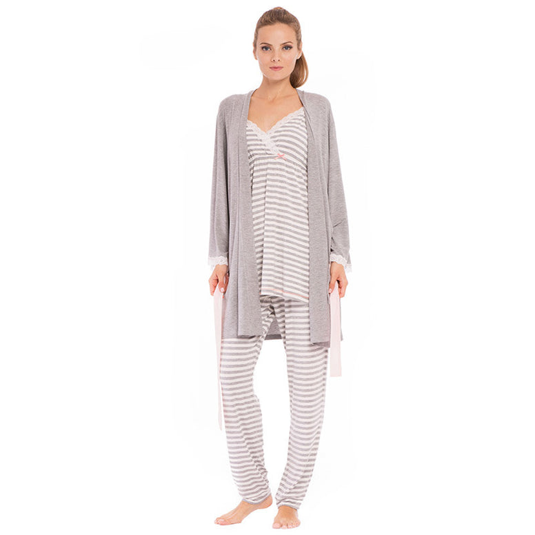 Olian Striped Pajama Set