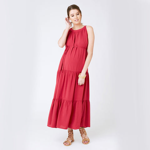 Ripe Paneled Peasant Dress
