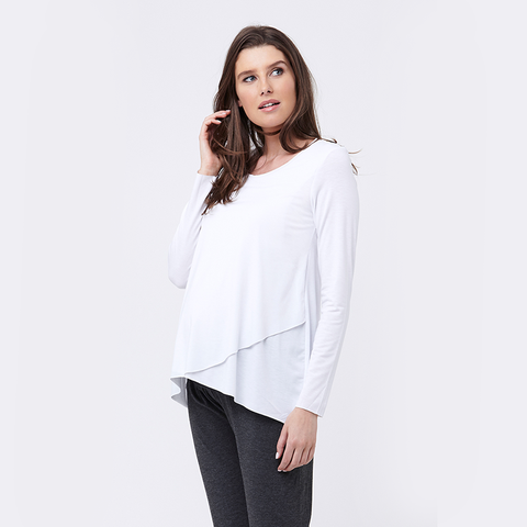 Ripe Raw Edge Nursing Top