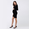Ripe Ruched Front Velvet Dress