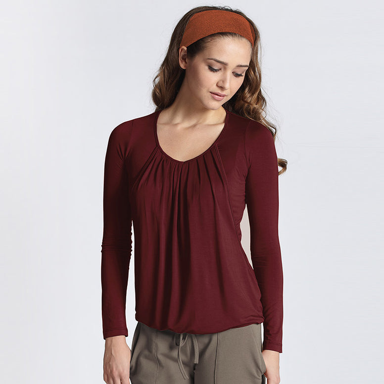 MEV Slouchy Pleated Top