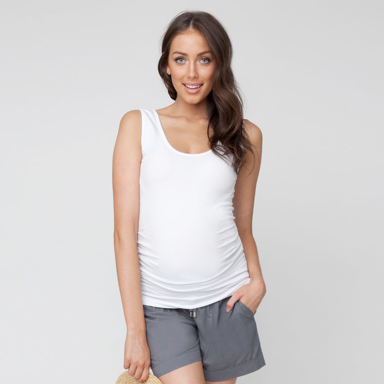 Ripe Tube Tank - White