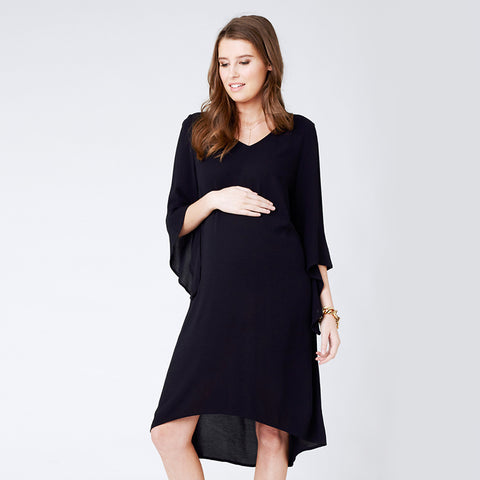Ripe Woven Fluted Sleeve Dress