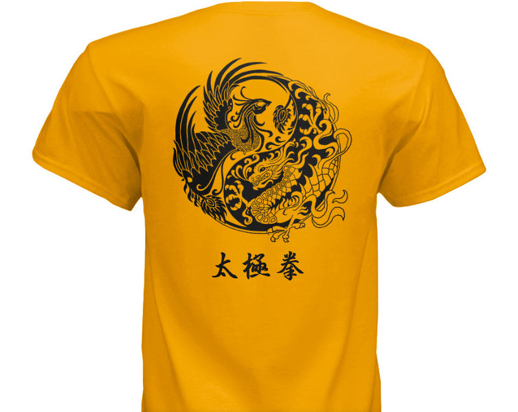 NEW Taijiquan T-shirts in Red, Gold, or White